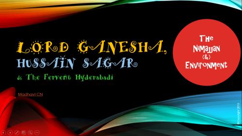 Lord Ganesha Hussain Sagar Hyderabadi